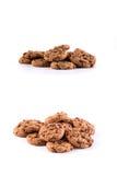 Biscotti con di pepita di cioccolato dentro Fotografia Stock