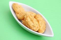 Biscotti con formaggio Fotografia Stock