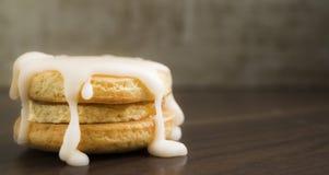 Biscotti con glassare casalingo Immagine Stock Libera da Diritti