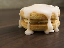 Biscotti con glassare casalingo Fotografia Stock