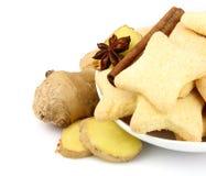 Biscotti con i gingers fotografie stock libere da diritti