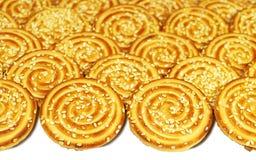 Biscotti con i semi di sesamo Immagini Stock