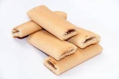 Biscotti con il materiale da otturazione della frutta Fotografia Stock Libera da Diritti