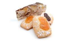 Biscotti con il nougat Immagine Stock