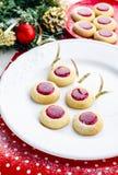 Biscotti con inceppamento per il Natale immagine stock libera da diritti