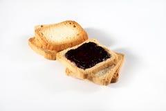 Biscotti con inceppamento su bianco Fotografie Stock Libere da Diritti
