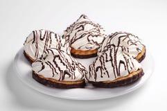 Biscotti con la caramella gommosa e molle Fotografie Stock Libere da Diritti