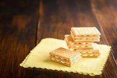 Biscotti con la crema della vaniglia Fotografia Stock Libera da Diritti