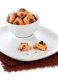 Biscotti con la noce e l'uva passa Fotografia Stock