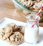 Biscotti con latte Fotografia Stock Libera da Diritti