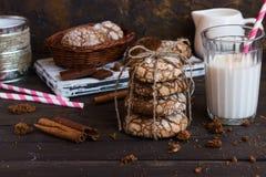 Biscotti con le crepe Fotografie Stock Libere da Diritti