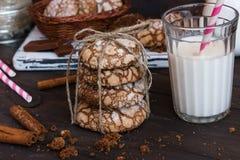 Biscotti con le crepe Fotografia Stock Libera da Diritti
