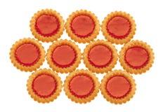 Biscotti con marmellata d'arance Fotografia Stock Libera da Diritti