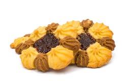 Biscotti con ostruzione isolata Fotografia Stock