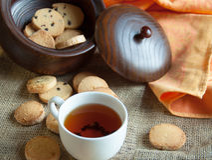 Biscotti con tè Immagine Stock