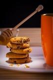 Biscotti con tè Fotografia Stock Libera da Diritti