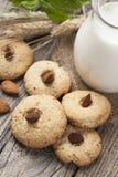 Biscotti con un barattolo di latte Immagini Stock