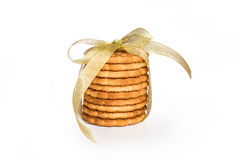 Biscotti con un nastro Fotografie Stock