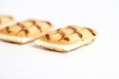 Biscotti con uno strato di cioccolata bianca Fotografia Stock Libera da Diritti