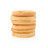 Biscotti con zucchero su bianco Immagine Stock Libera da Diritti
