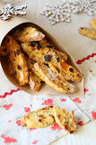 Biscotti cookies with dried fruit Stock Photography
