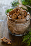 Biscotti cookies in glass jar Royalty Free Stock Photo