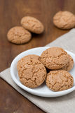 Biscotti cookies on wooden background Royalty Free Stock Image