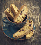 Biscotti with cranberry and walnuts Stock Photo