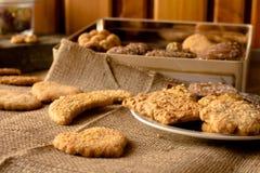 Biscotti croccanti dolci di gusto differente fotografie stock libere da diritti