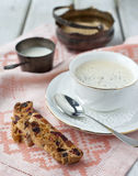 Biscotti and a cup of coffee Royalty Free Stock Images