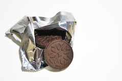 Biscotti dal pacchetto Fotografia Stock