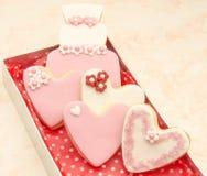Biscotti decorati Fotografie Stock