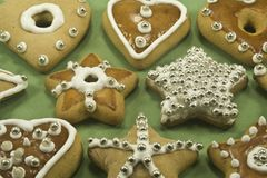 Biscotti decorati Fotografia Stock Libera da Diritti