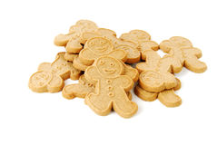Biscotti degli uomini di pan di zenzero Fotografia Stock