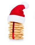 Biscotti dei biscotti di Natale Fotografia Stock
