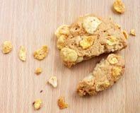 Biscotti dei fiocchi di granturco Immagine Stock