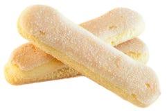 Biscotti dei Ladyfingers fotografia stock libera da diritti