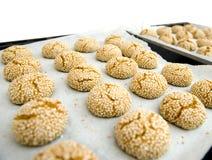 Biscotti dei semi di sesamo Immagini Stock