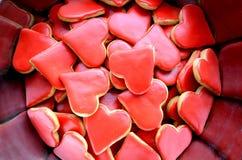 Biscotti del biglietto di S. Valentino Fotografie Stock