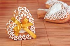 Biscotti del biglietto di S. Valentino immagine stock