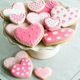 Biscotti del biglietto di S. Valentino Fotografie Stock Libere da Diritti