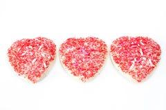 Biscotti del biglietto di S. Valentino Fotografia Stock