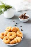 Biscotti del biscotto sul piatto Fotografia Stock Libera da Diritti