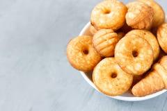 Biscotti del biscotto sul piatto Fotografia Stock
