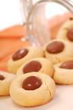 Biscotti del burro di arachide con cioccolato Fotografia Stock Libera da Diritti