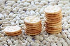 Biscotti del burro di arachidi Fotografia Stock Libera da Diritti