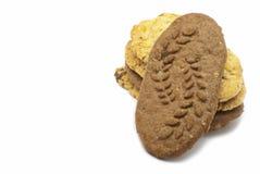 Biscotti del cacao con i cereali Fotografie Stock Libere da Diritti