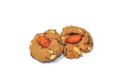 Biscotti del chip del choccolate della mandorla Immagine Stock