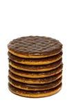Biscotti A del cioccolato Fotografie Stock Libere da Diritti