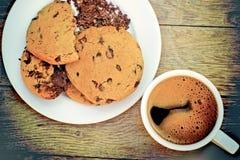 Biscotti del cioccolato - biscotti di pepita di cioccolato Fotografia Stock Libera da Diritti